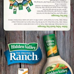 Hidden Valley Ranch Tent Card