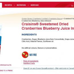 Ocean Spray Website