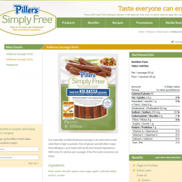 Piller's Simply Free Kolbassa Sausage Meat Snacks