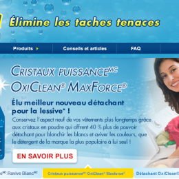 Oxi Clean Website