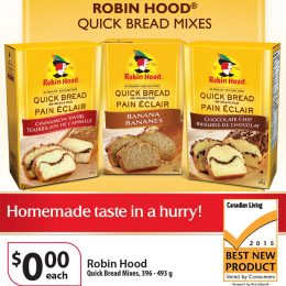 Smuckers Robin Hood Quick Bread