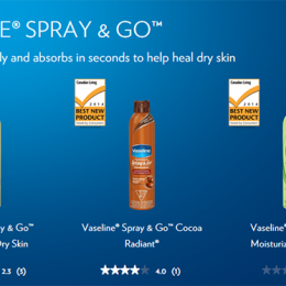 Vaseline Spray and Go
