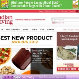 Glad Web Banner / Canadian Living Website