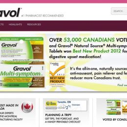 Gravol Website